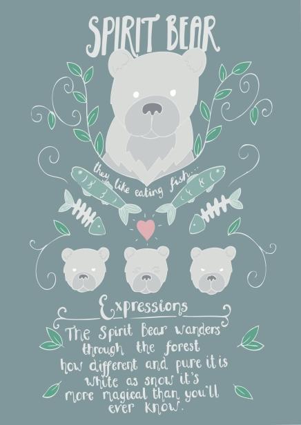 Spirit bear character card