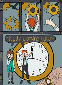 Snippet of my clockwork children comic